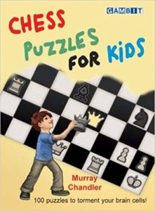 Chess Puzzles for Kids Book Cover Graphic