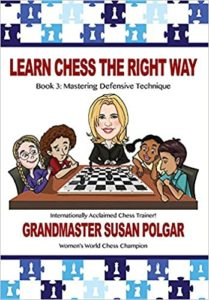 Learn Chess The Right Way Book 3: Mastering Defensive Technique Book Cover Graphic