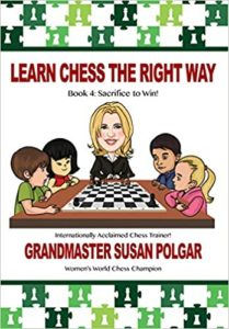 Learn Chess the Right Way Book 4: Sacrifice to Win! Book Cover Graphic